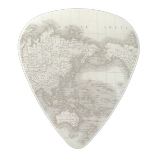 Mappemonde - Globe map Acetal Guitar Pick