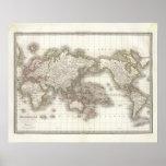 Mappemonde - Globe map Poster