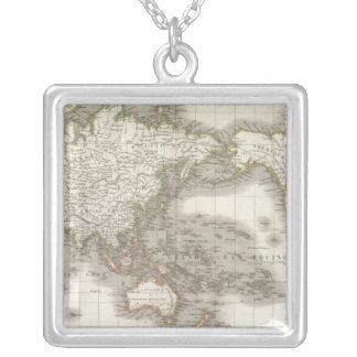 Mappemonde - Globe map Silver Plated Necklace