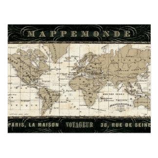 Mappemonde Post Cards