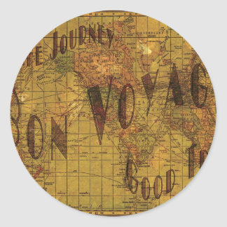 Mapping My Travels Sticker