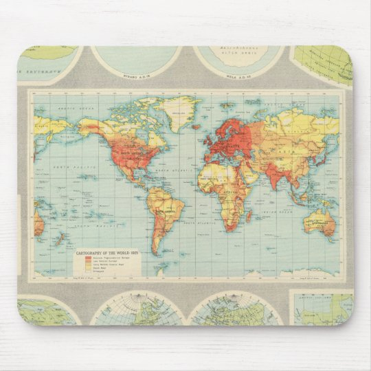 Mapping of the world mouse pad