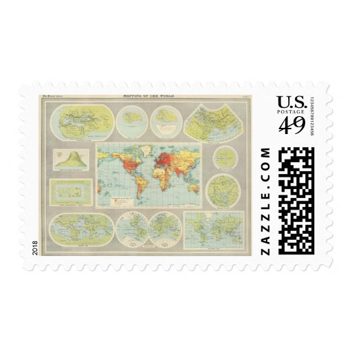 Mapping of the world stamps