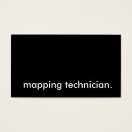 Geographic map of business cards templates zazzle mapping technician business card wajeb Images