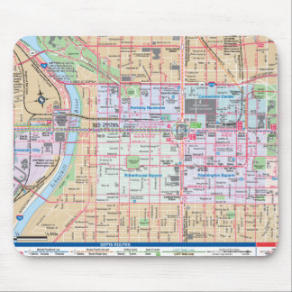 Mapping The City of Brotherly Love Mousepad