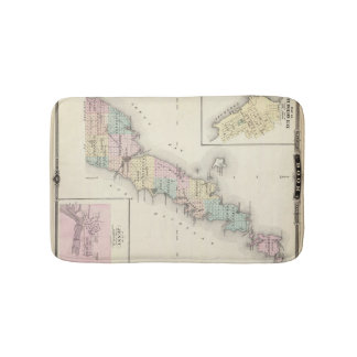 Maps of Door County, Sturgeon Bay and Jenny Bath Mat