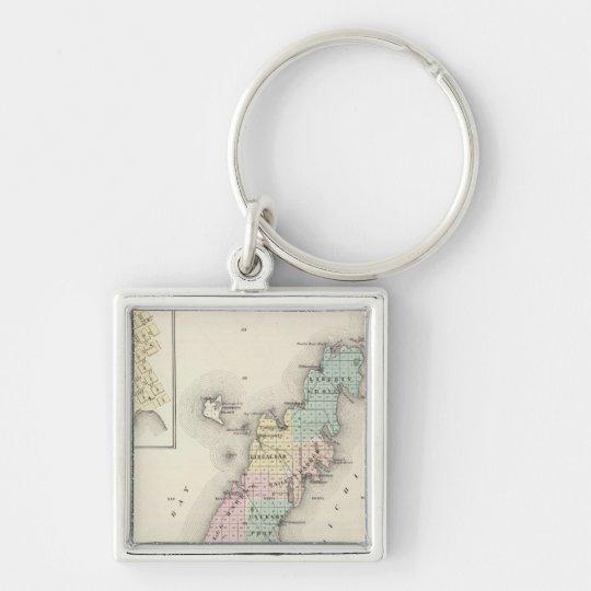 Maps of Door County, Sturgeon Bay and Jenny Keychain