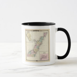 Maps of Door County, Sturgeon Bay and Jenny Mug