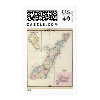 Maps of Door County, Sturgeon Bay and Jenny Postage Stamp