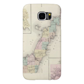 Maps of Door County, Sturgeon Bay and Jenny Samsung Galaxy S6 Cases