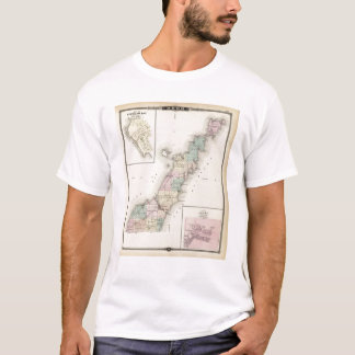 Maps of Door County, Sturgeon Bay and Jenny T-Shirt