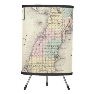Maps of Door County, Sturgeon Bay and Jenny Tripod Lamp