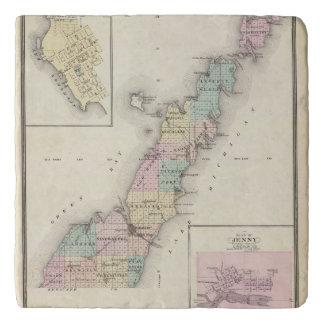 Maps of Door County, Sturgeon Bay and Jenny Trivet