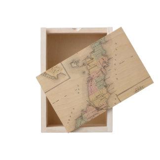 Maps of Door County, Sturgeon Bay and Jenny Wooden Keepsake Box