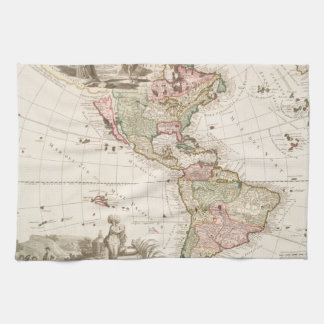 Maps of North and South America (1680-1742) Kitchen Towels
