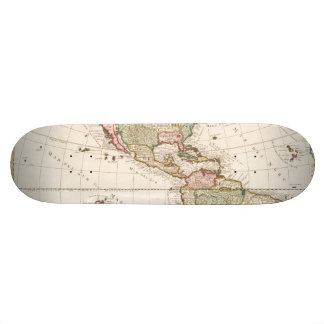 Maps of North and South America (1680-1742) Skateboard