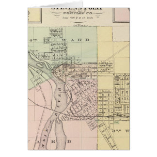 Maps of Stevens Point, Elroy and Wonewoc Card