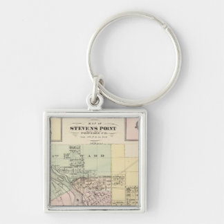 Maps of Stevens Point, Elroy and Wonewoc Keychain