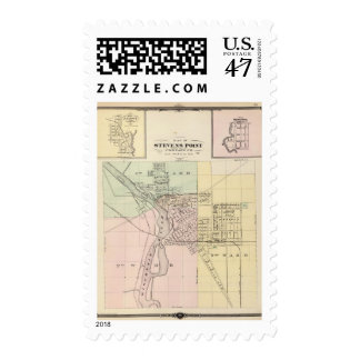 Maps of Stevens Point, Elroy and Wonewoc Postage