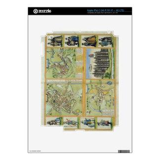 Maps of York, Shrewsbury, Lancaster, and Richmond, iPad 3 Skins