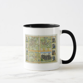 Maps of York, Shrewsbury, Lancaster, and Richmond, Mug