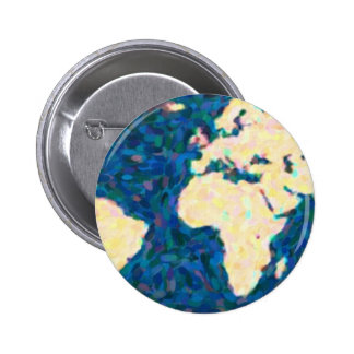 maps pointilism World Map 2 Pinback Button