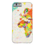 maps pointilism World Map with leaves iPhone 6 Case