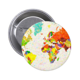 maps pointilism World Map with leaves Pins