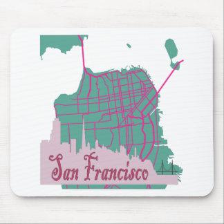 maps San Francisco Mouse Pad