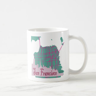 maps San Francisco Classic White Coffee Mug