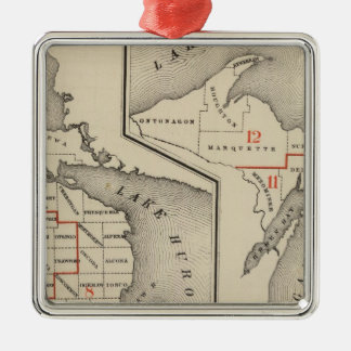 Maps showing the congressional districts christmas tree ornaments