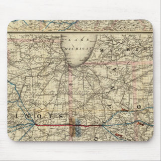 Maps showing the Indiana Mouse Pad