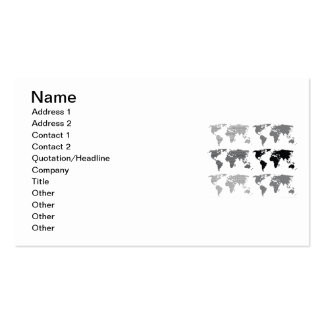 Maps world continents styles designs patterns Double-Sided standard business cards (Pack of 100)