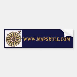 Mapsrule.com con el rosa de compás pegatina de parachoque