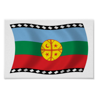 Mapuches Flag Poster Print