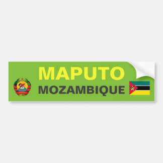 Maputo Mozambique Bumper Sticker