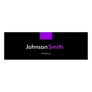 Maquillaje - acuerdo púrpura violeta plantilla de tarjeta de negocio