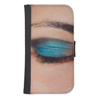 Maquillaje azul fundas cartera para teléfono