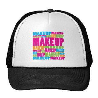 Maquillaje colorido gorras