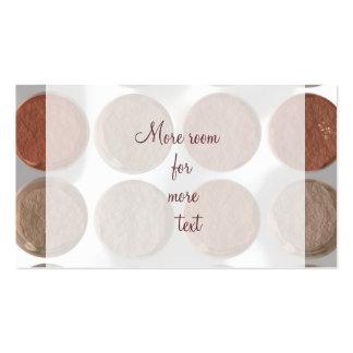 ¿Maquillaje conseguido? - Paleta de la fundación Tarjetas De Visita