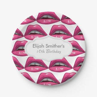 Maquillaje de los labios del rosa del arte pop