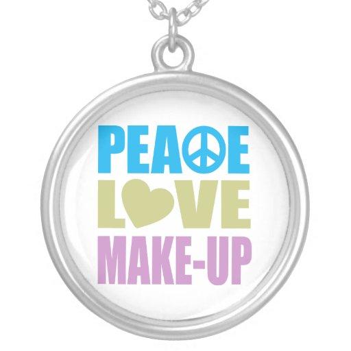 Maquillaje del amor de la paz colgante redondo