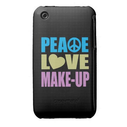 Maquillaje del amor de la paz Case-Mate iPhone 3 carcasa
