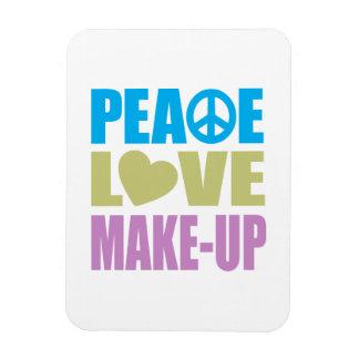 Maquillaje del amor de la paz imán