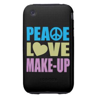 Maquillaje del amor de la paz tough iPhone 3 funda
