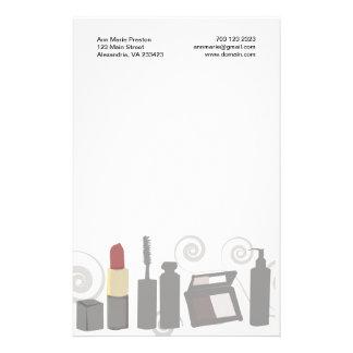 Maquillaje del ojo del Cosmetologist Papelería De Diseño