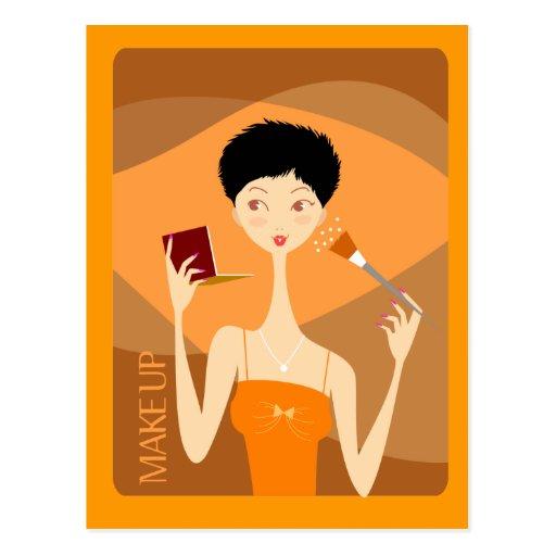 maquillaje tarjeta postal