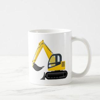 Máquina amarilla y negra de la construcción del taza clásica