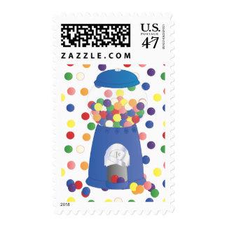 Máquina azul de Gumball Timbres Postales