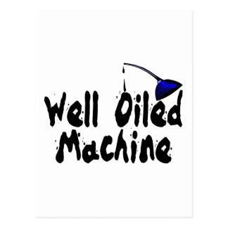 Máquina bien engrasada postales